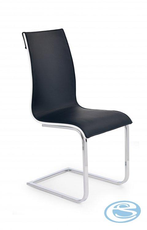Jídelní židle Matteo černo-bílá - HALMAR