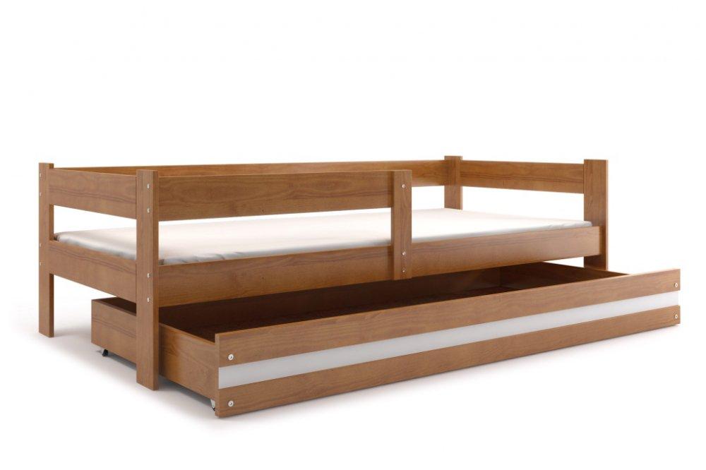 Dětská dřevěná postel Hugo olše 160x80 - BMS