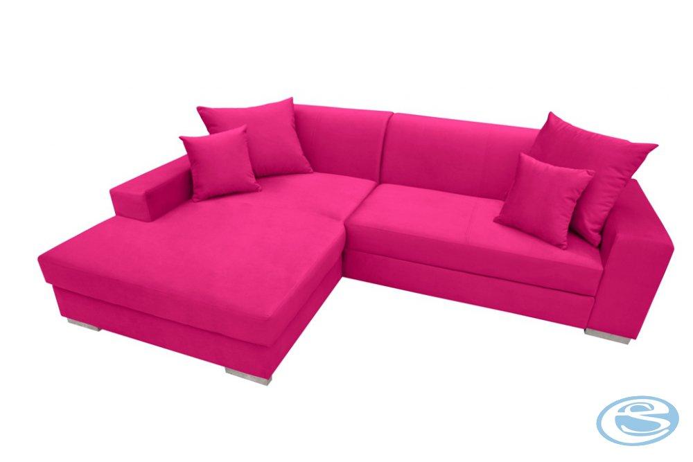 Rohová sedací souprava Mexico růžová - FALCO