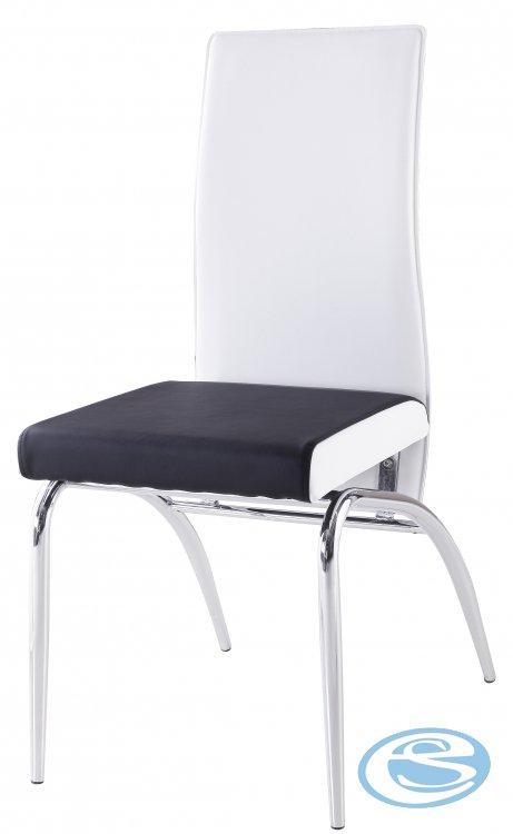 Jídelní židle F106 bíločerná - FALCO