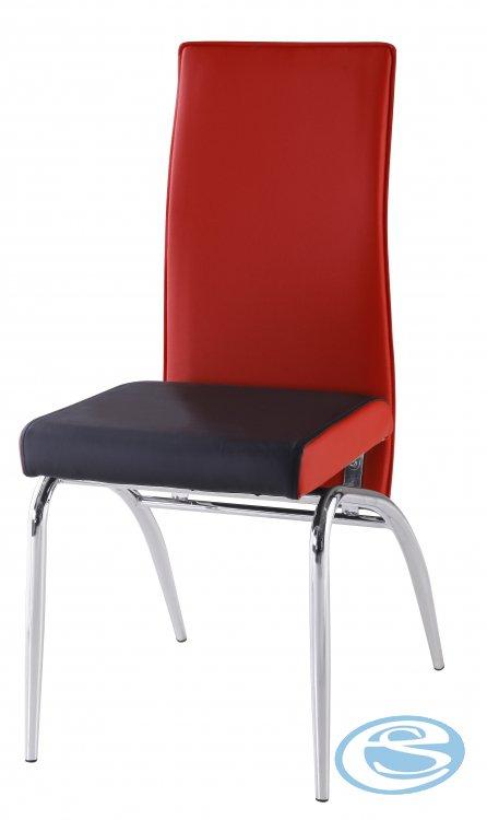 Jídelní židle F106 červenočerná - FALCO