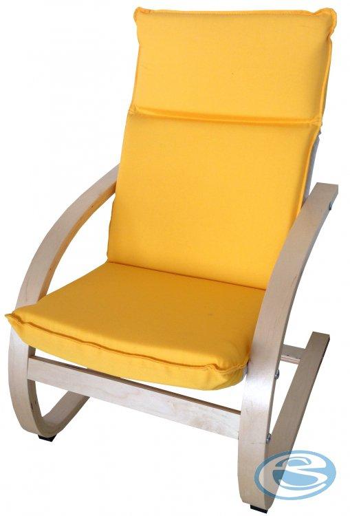 Dětské relaxační křeslo žluté - FALCO