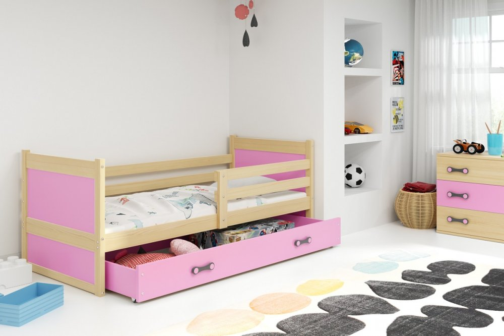 Dětská postel Rico 90x200 cm borovice - BMS