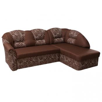 Rohová sedací souprava Carlos čokoládová pravá - TempoKondela
