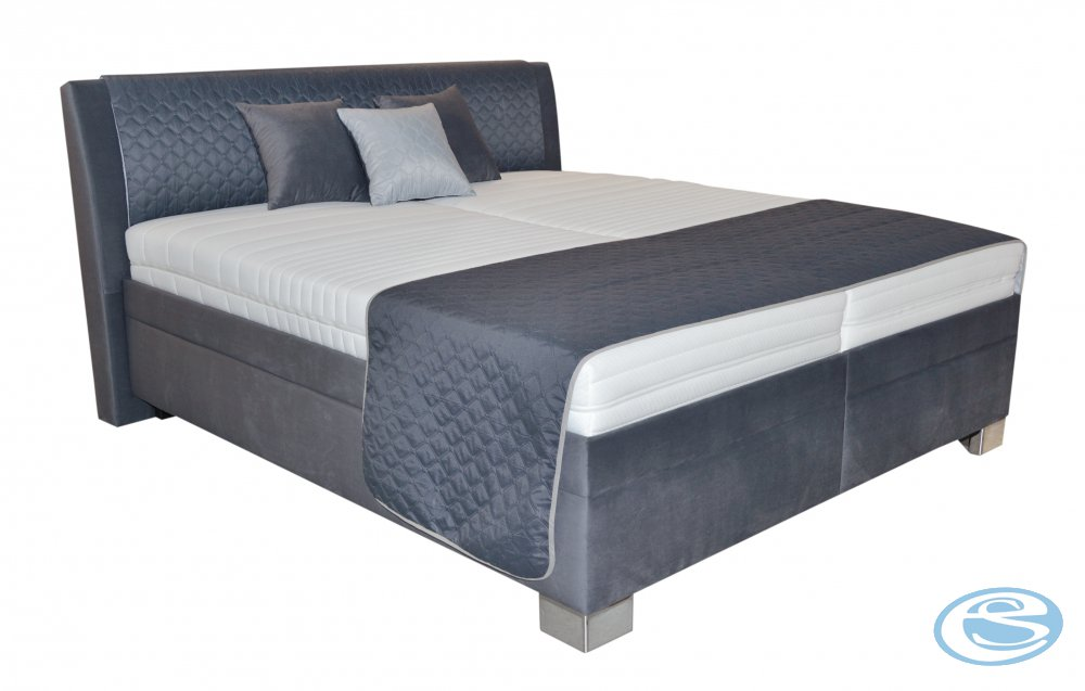 Čalouněná postel Juve 180x200 vč. matrace, roštů, úložný prostor - BLANAŘ