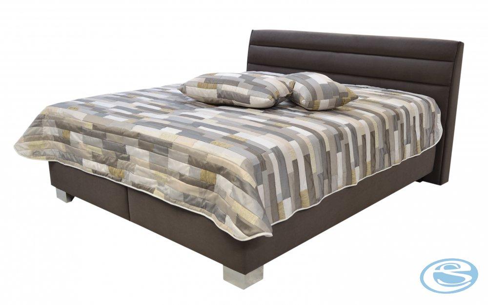 Čalouněná postel Vernon 160x200 matrace Ivana Plus - BLANAŘ