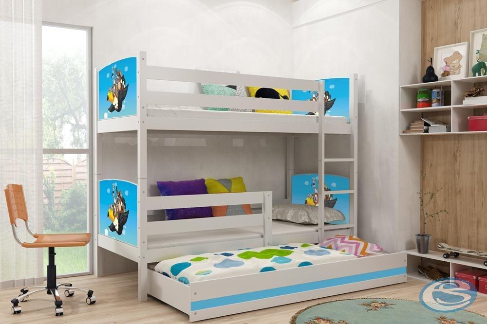 Dětská patrová postel Tami 3 pro 3 děti - BMS