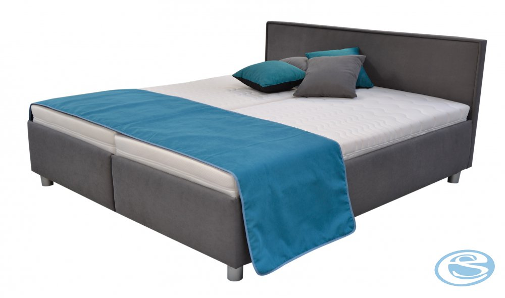 Postel Oregon s matrací a rošty 160x200 šedá - BLANAŘ