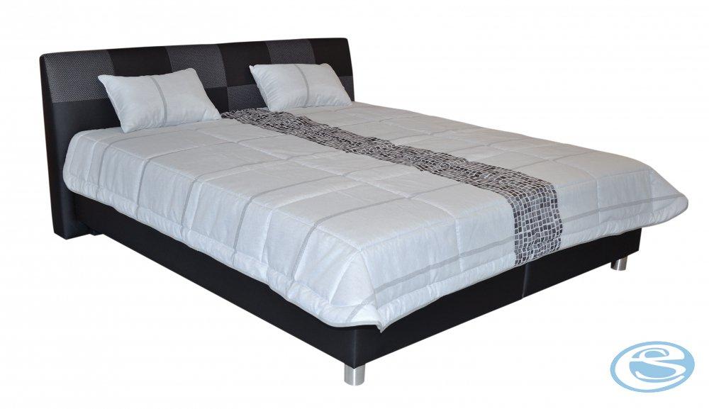 Postel Nice čalouněná 180x200 LoftBlack s matrací Nelly - BLANAŘ