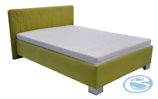 Postel Dona 90x200 s matrací Nelly zelená - BLANAŘ