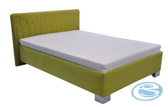 Postel Dona 140x200 s matrací Nelly zelená - BLANAŘ