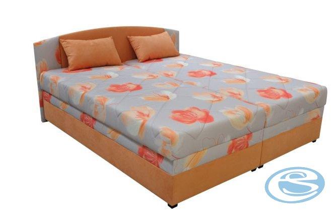 Čalouněná postel Kappa 160 s matrací Alena květy - BLANAŘ