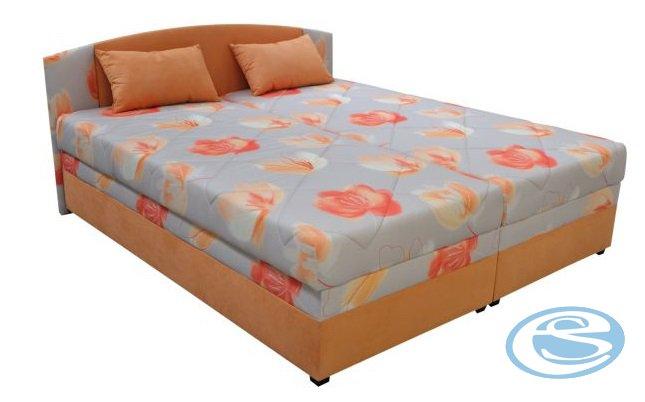 Čalouněná postel Kappa 180 s matrací Alena květy - BLANAŘ