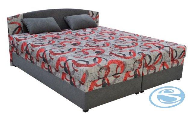 Čalouněná postel Kappa 160 s matrací Alena šedá - BLANAŘ