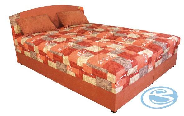 Čalouněná postel Kappa 180 s matrací Alena oranžová - BLANAŘ