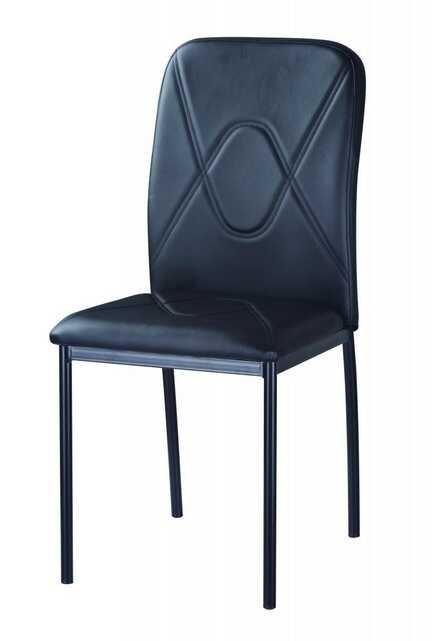 Jídelní čalouněná židle H-623 černá/chrom - FALCO