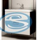 Skříňka s umyvadlem Evo wenge/bílý lesk - FALCO