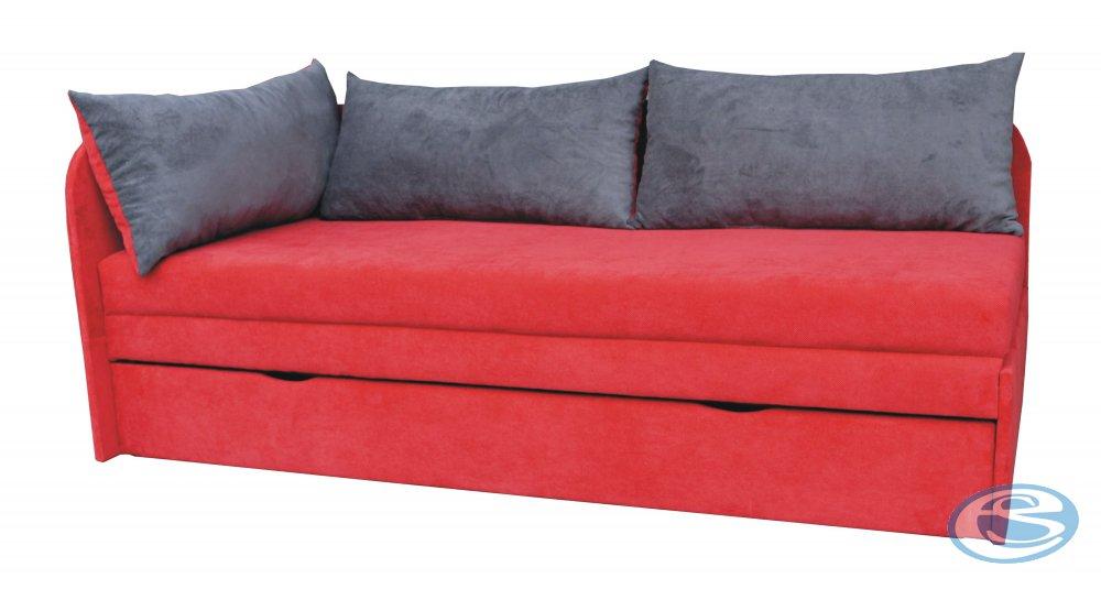 Pohovka Spring Doti červená levá - FALCO