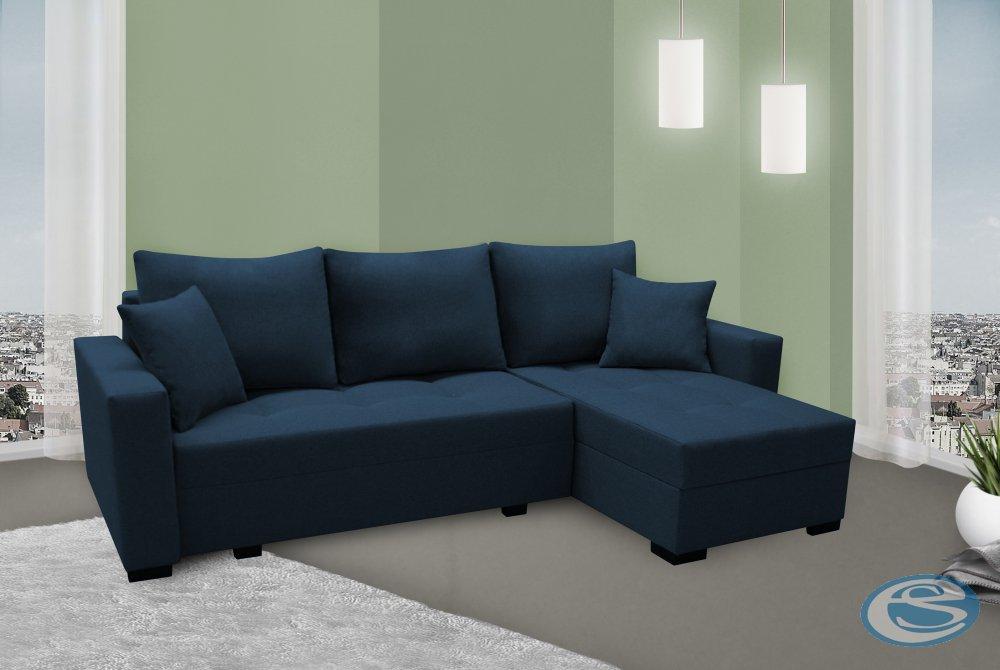 Rohová sedací souprava Nevada tmavě modrá univerzální - FALCO