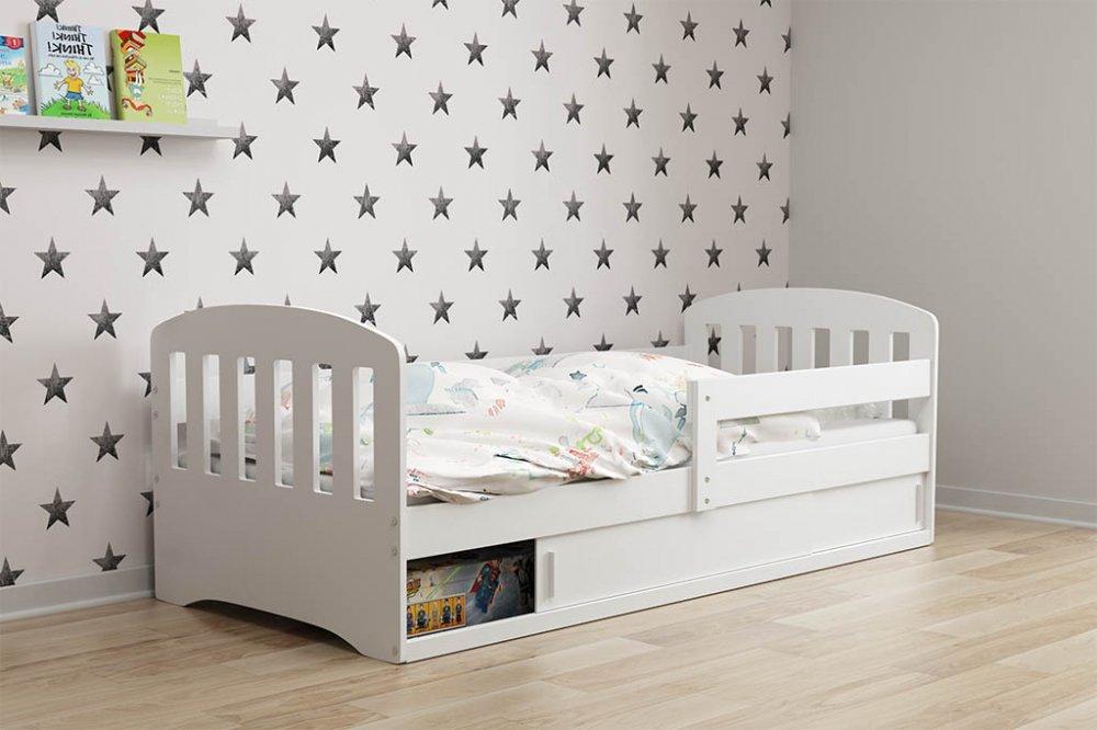 Dětská postel Classic 160x80 borovice/bíl - BMS