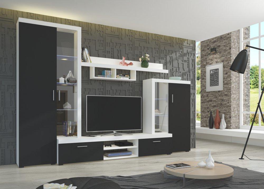 Obývací stěna Asti černobílá - FALCO