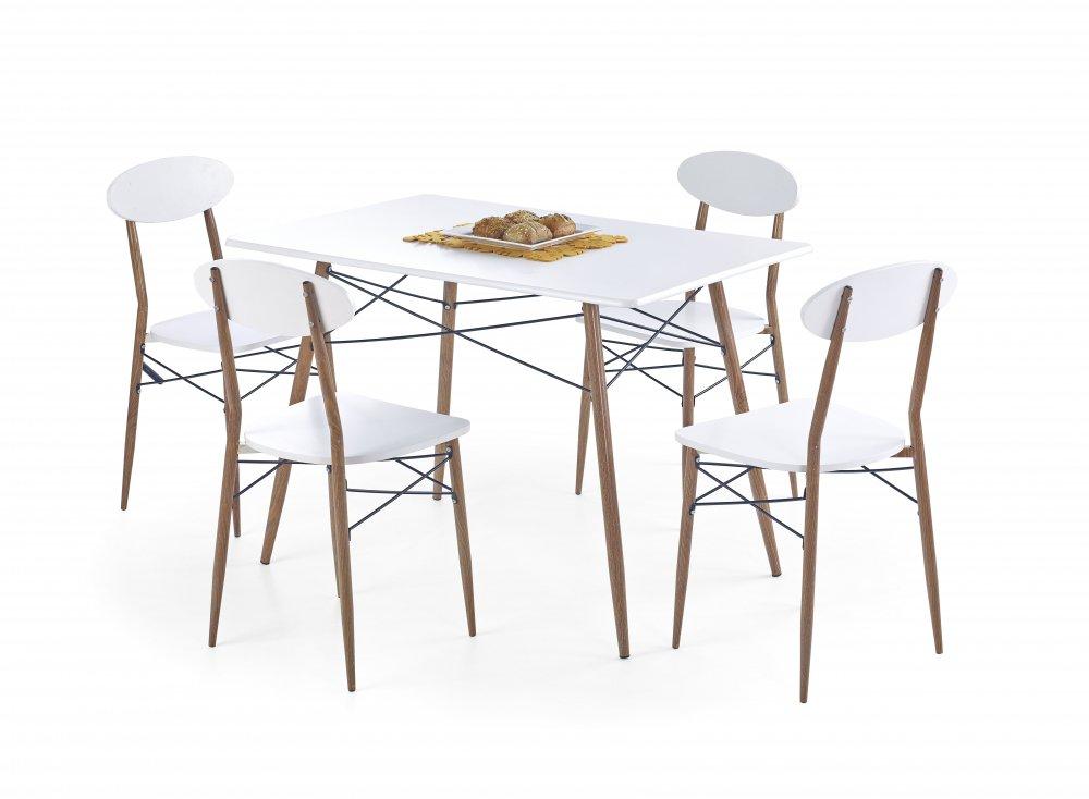 Jídelní stůl Record + 4 židle - HALMAR