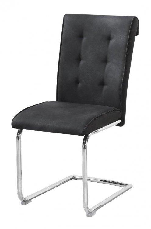 Židle Dakota imitace kůže šedá - FALCO