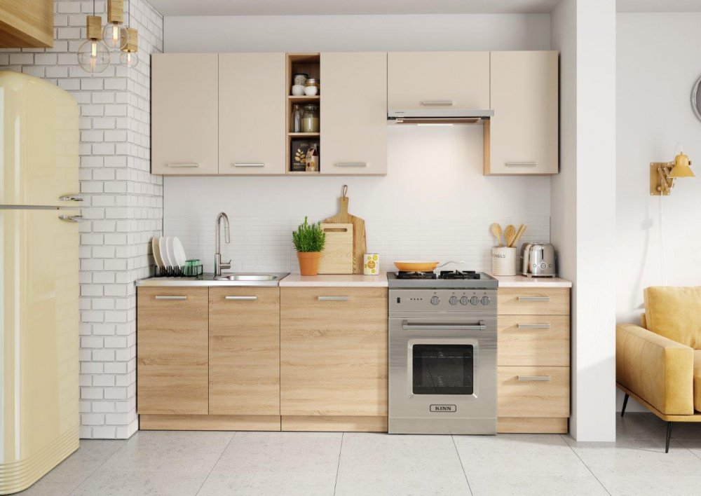 Kuchyně Lena 240 písek/sonoma - FALCO