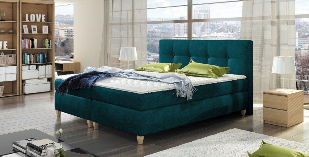postel malta boxspring 140x200 euroseda ky. Black Bedroom Furniture Sets. Home Design Ideas