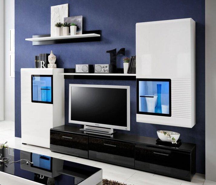 Obývací stěna Panda bílá/černá - FALCO