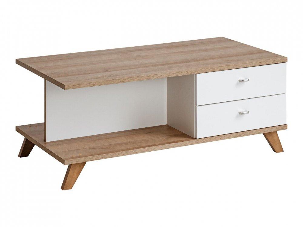 Konferenční stolek Vinie dub/bílá - FALCO