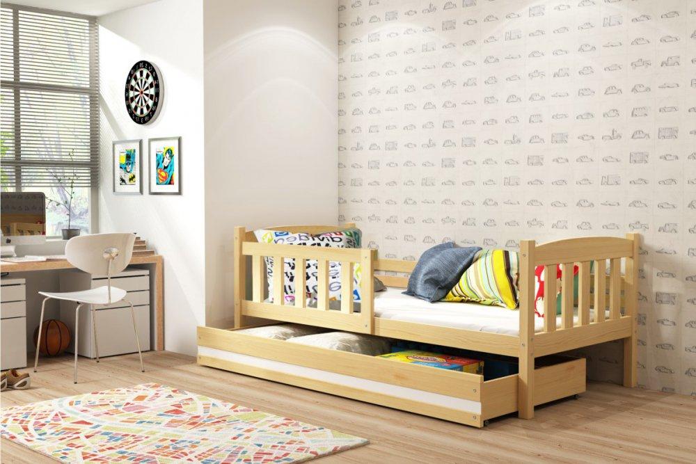 Dětská postel Kubus 80x160 borovice - BMS