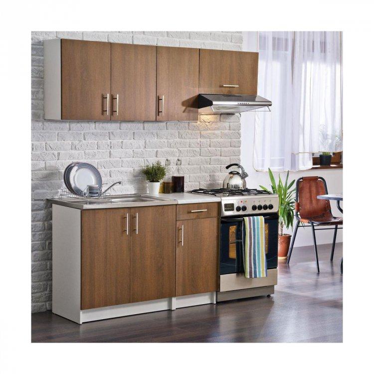 Kuchyňská linka Tola 120/180 ořech virginia - FALCO