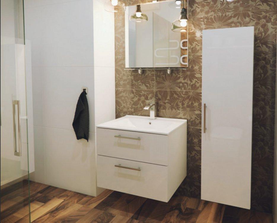 Koupelnová sestava Metropol bílý lesk - FALCO