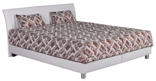 Čalouněná postel Vinco bílá 180x200 vč. matrace a roštu - BLANAŘ