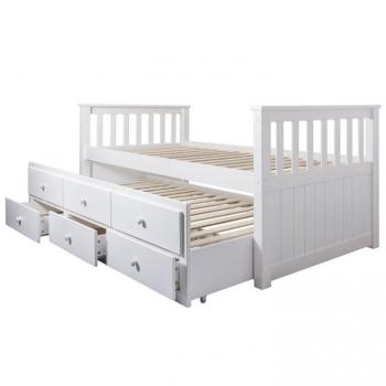 Dětská postel s přistýlkou Austin bílá - TempoKondela