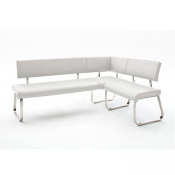Rohová lavice Vesata typ 1 bílá pravá - TempoKondela TempoKondela