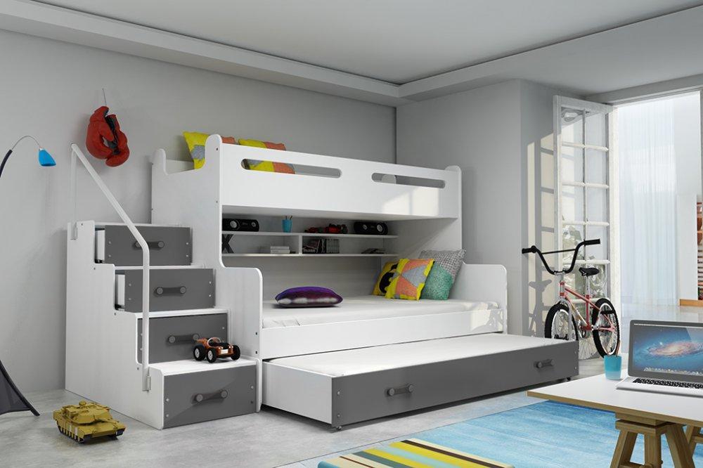 Dětská patrová postel Max 4 s přistýlkou - FALCO