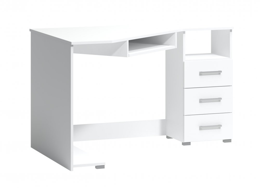 Rohový psací stůl Arta pravý bílý - FALCO