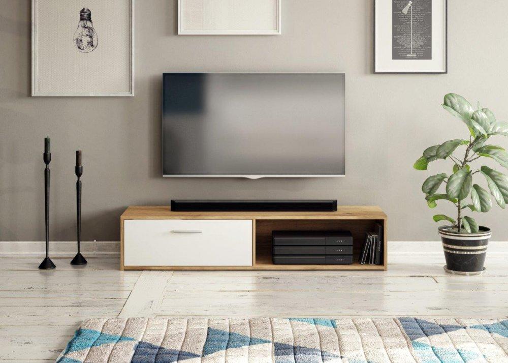 TV stolek Sharp dub appalachian/bílá - FALCO