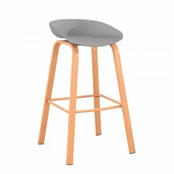 Barová židle BRAGA šedá - TempoKondela