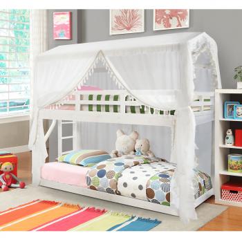 Dětská patrová postel ZEFIRE 90x200 bílá - TempoKondela