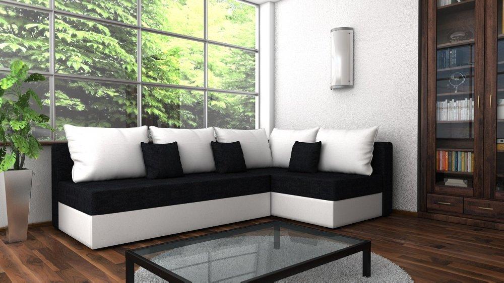 Rozkládací sedačka Terhun černo-bílá - FALCO