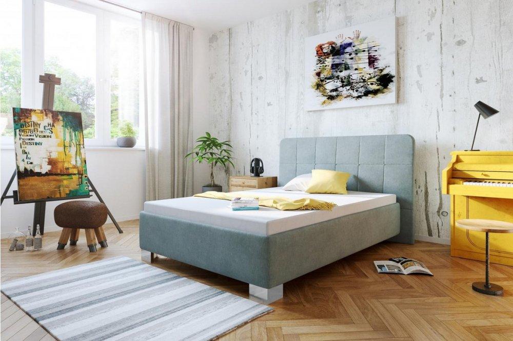 Čalouněná postel Kelly 140x200 Aston zelená - BLANAŘ