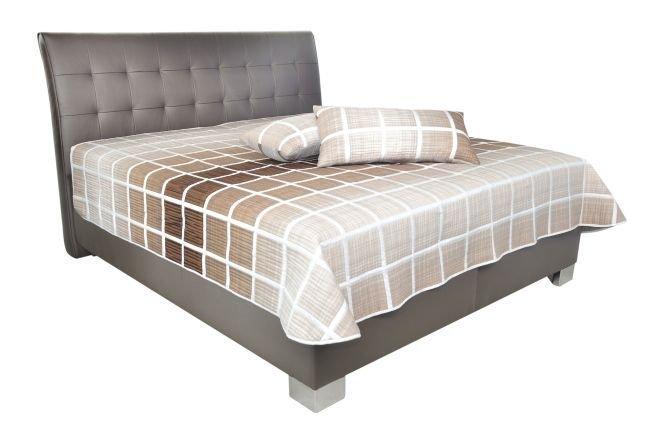 Čalouněná postel Naty 180x200 Loft coffee - BLANAŘ