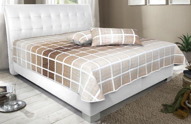 Čalouněná postel Naty 180x200 Loft bílá - BLANAŘ