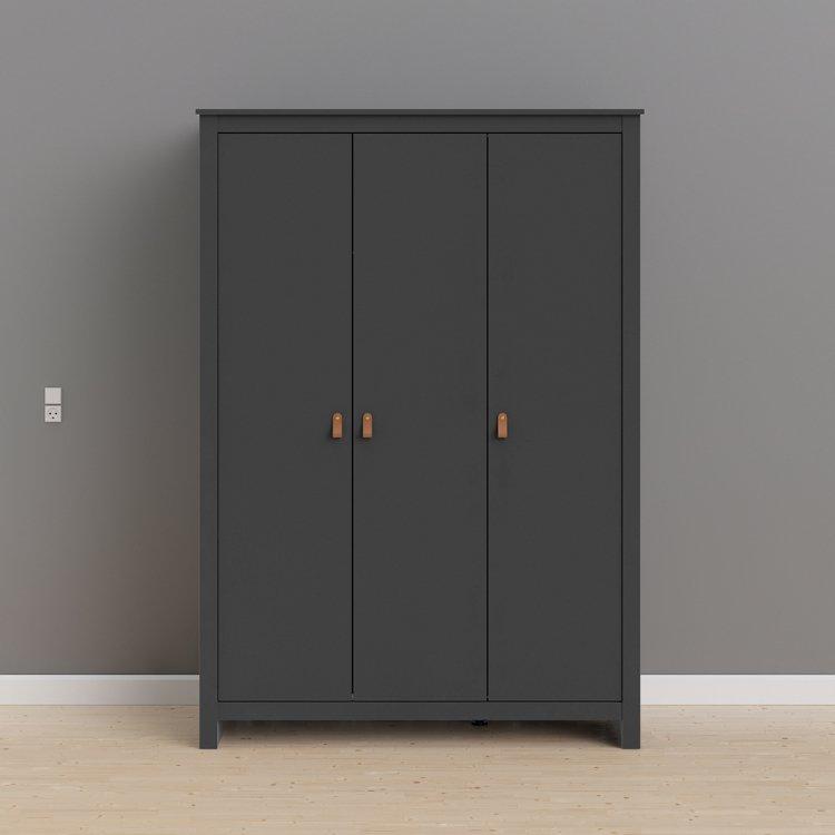 Třídveřová šatní skříň Lexington 82700 šedá - TVI