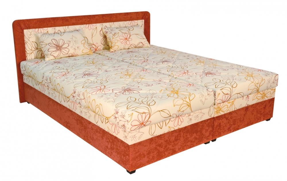 Čalouněná postel Cube-180x200 matrace Nelly - BLANAŘ