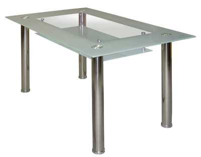 Jídelní stůl Cristal skleněný bílý - FALCO