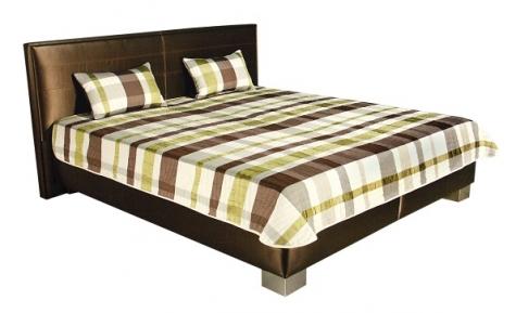 Čalouněná postel Discovery 180x200cm hnědá - BLANAŘ